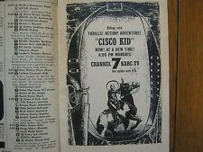 1956 TV Guide (THE  CISCO KID/LORETTA YOUNG/JACK WEBB/BRAVE EAGLE/BREAK THE BANK
