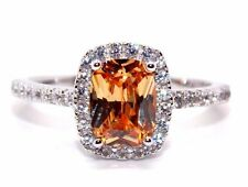 Sterling Silver Morganite And Diamond 3.6ct Ring (925) Size 7 (N)