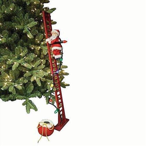 Spieldosen CARILLON Weihnachtsmann die oben und unten Treppe Cm,109 h-leuchten Musik 36883