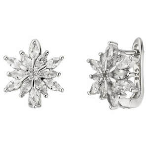 Paar-Creolen-Ohrringe-Blume-Edelweiss-mit-Zirkonia-weiss-925-Silber-rhodiniert