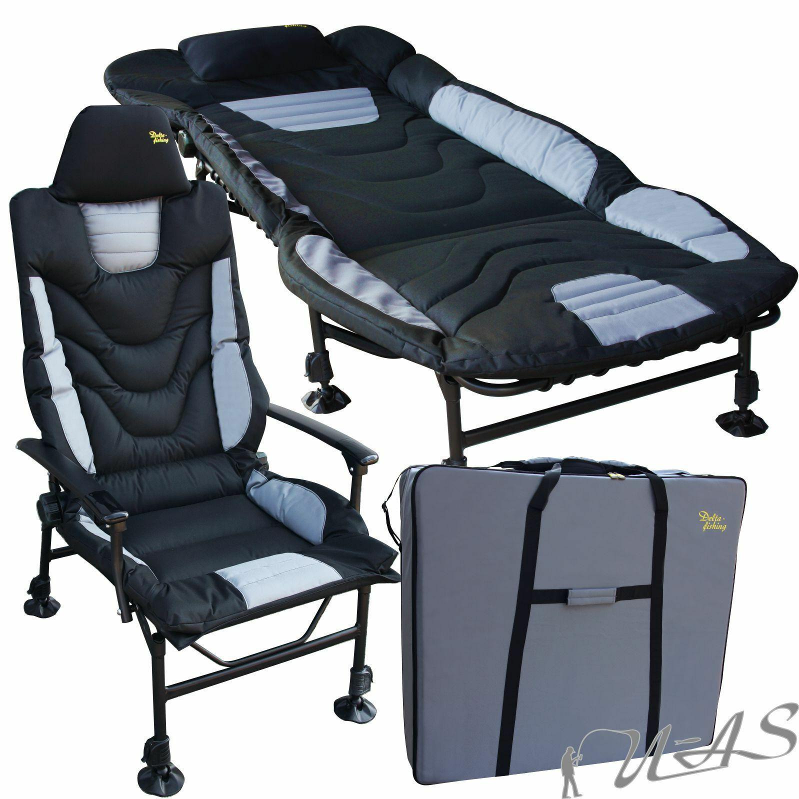 DELTA pesca selezione LUSSO tuttiuminio autopa sedia sdraio borsa da trasporto KVA