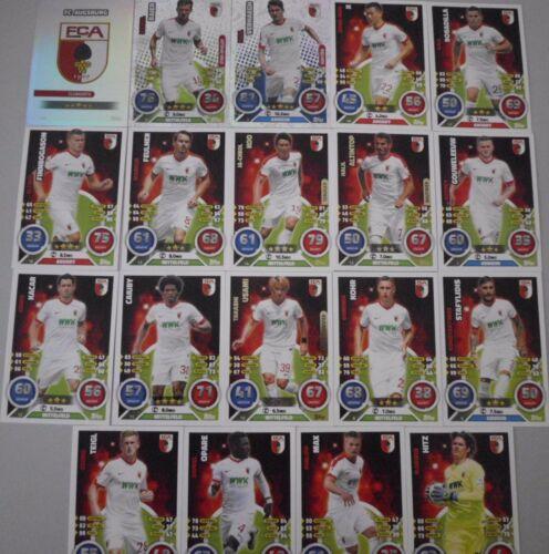 Match Attax 16//17 toutes les 16 Cartes Base blason et tous les 19 cartes de base dans le SET