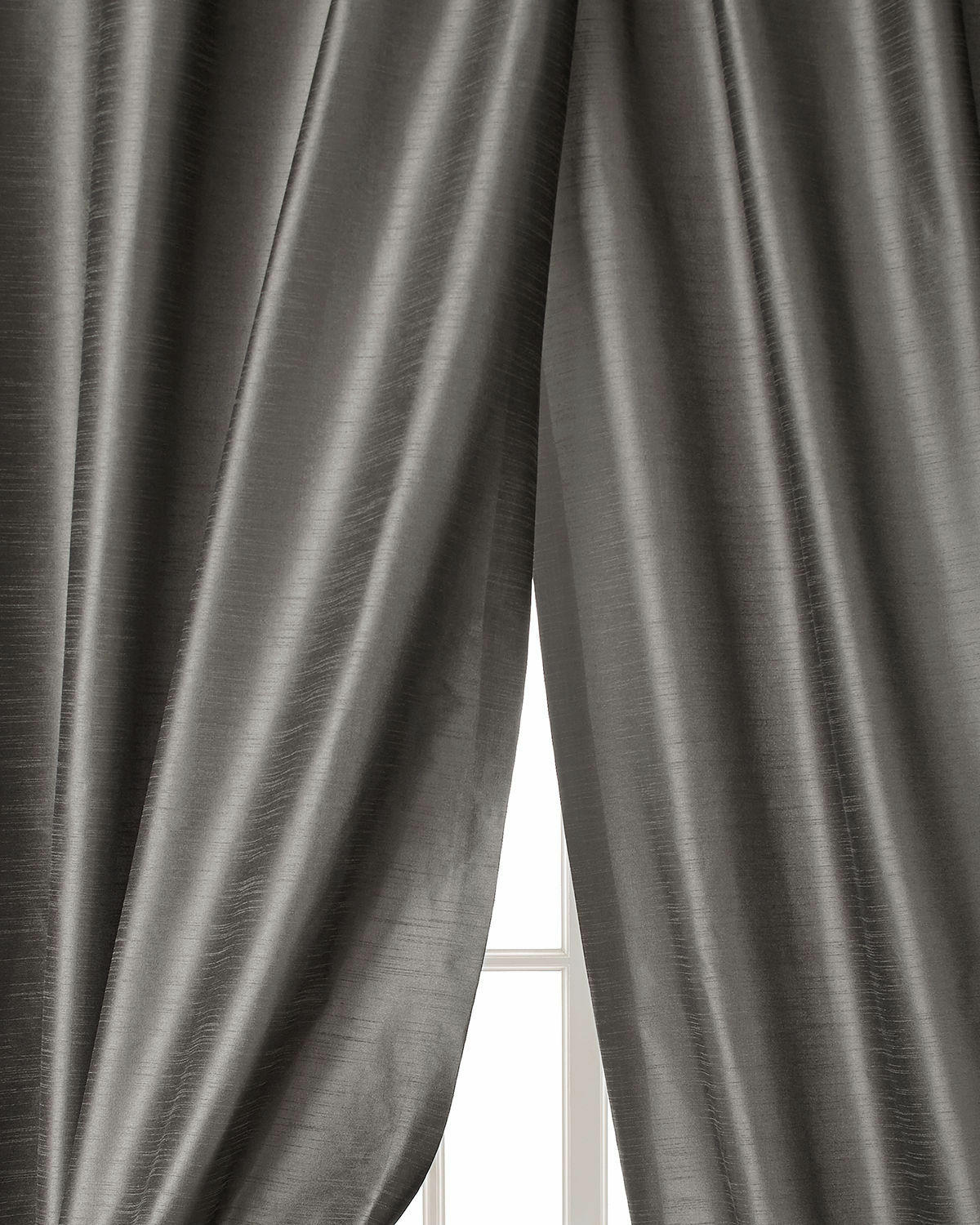Faux silk Dupion Solid Lined Curtains...by Neiman Marcus