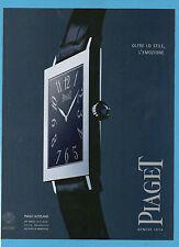 BELLEU000-PUBBLICITA'/ADVERTISING-2000- PIAGET ALTIPLANO