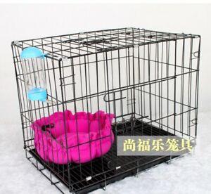 Folding-Metal-Pet-Dog-Cat-Cage-Playpen-Single-Door-amp-Double-Door-Dog-Crates