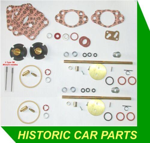 "KIT RICOSTRUZIONE principali per 2 x HD6TH 1 3//4 /""su carboidrati per Jaguar Mk2 3.8 3781 CC 1960-67"