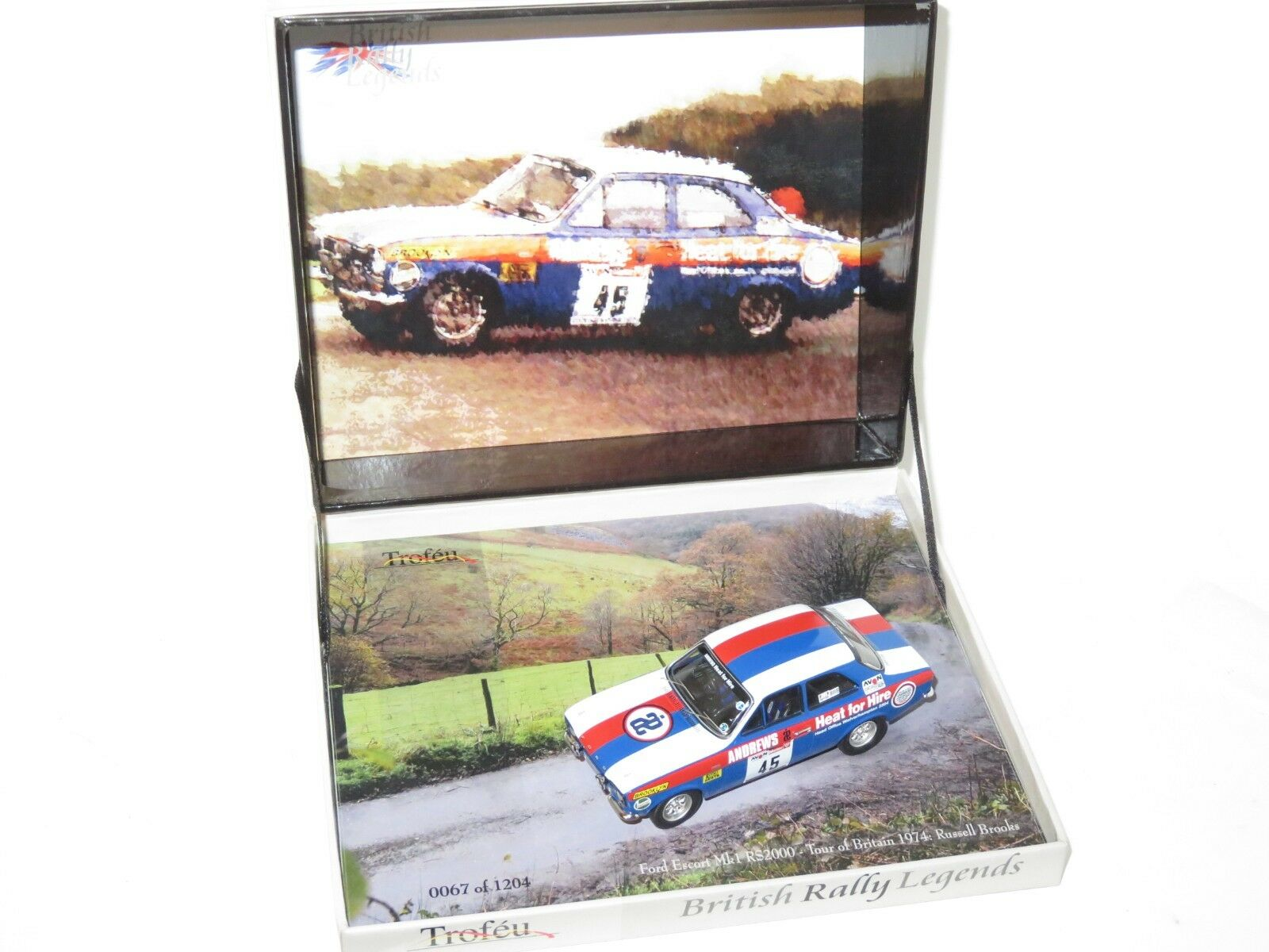 1 43 Ford Escort Mk1 Mk1 Mk1 RS2000 Andrews Heat for Hire Tour of Britain 1974 R.Brookes 306558