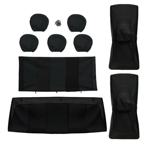 Peugeot Seat Covers Black Full Set Protectors Fabric Sporty Fit