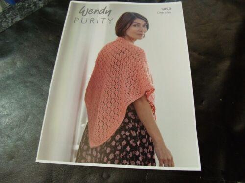 Wendy Purity One Size Shawl Pattern 6053