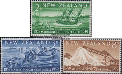 FleißIg Neuseeland 382-384 Postfrisch 1959 Marlborough Durchblutung GläTten Und Schmerzen Stoppen kompl.ausg.