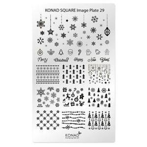 Image Is Loading Konad Stamping Nail Art Square Plate 29