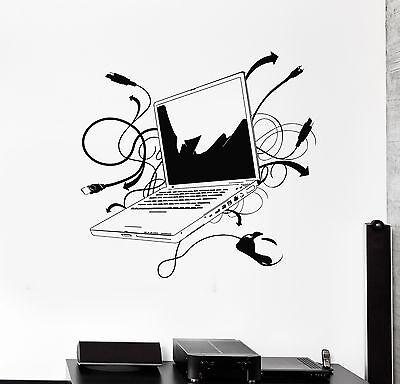 Wall Decal Laptop Computer Online Internet Gamer IT Vinyl Stickers (ig2776)
