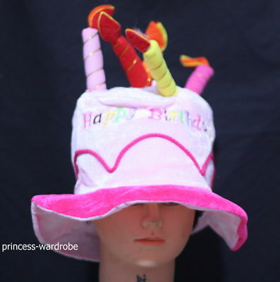 Terrific Happy Birthday Cake Candle Funny Hat Party Costume Pink Ebay Funny Birthday Cards Online Aboleapandamsfinfo