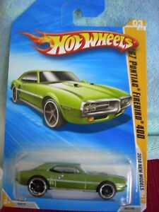 Hot Wheels '67 Pontiac Firebird 400 2010 New Models Green ...