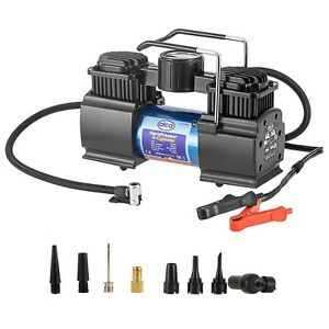 Powerful-12V-AIR-COMPRESSOR-50L-160PSI-tyre-inflator-car-caravan-Battery-powered