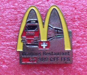 Pins-MAC-DONALD-039-S-Mc-Do-SUISSE-Train-WAGON-RESTAURANT-SBB-CFF-FFS