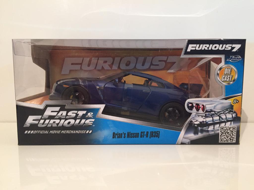Fast Fast Fast & Furious Brians NISSAN GT-R R35 bleu métallisé Jada 97036 échelle 1 24 4bc7d1