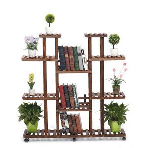 9-Tiers-Indoor-Garden-Wooden-Plant-Stand-Planter-Flower-Pot-DIY-Shelf-W