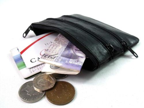 Mesdames Mens qualité cuir véritable pièce pochette bourse carte bancaire titulaire porte-clés