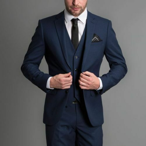 3 Piece Groom Tuxedos Wedding Suits Business Evening Prom Suits Best Man Suits