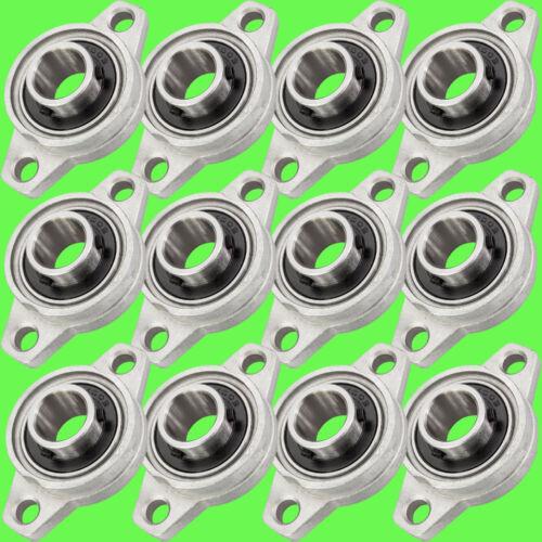 ► 12 Stk KFL002 Flanschlager Gehäuselager 15mm Welle CNC Drucker KFL Halterung