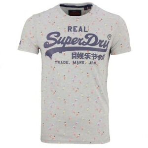 online store 20d2c 62033 Details zu Superdry Herren T-Shirt Vintage Logo grau Eis All Over Print  M10261NT 07Q grey