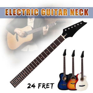 Electric-Guitar-Neck-Maple-24-Fret-Rosewood-Fretboard-Black-Gloss-Head-Bolt-On