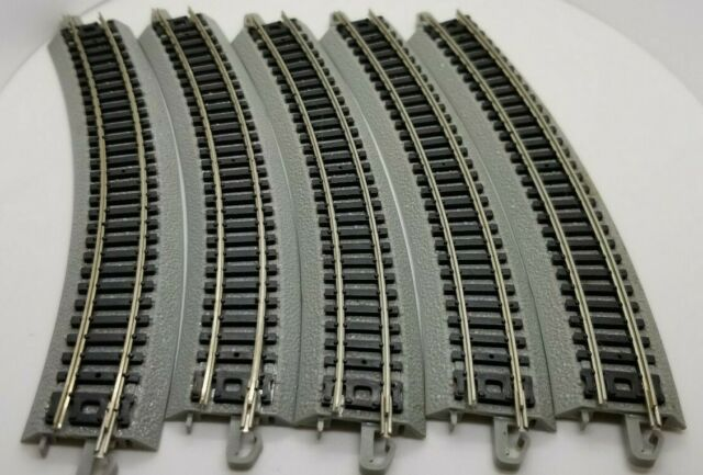 """N Scale Bachmann 44804 19/"""" Radius Curved Nickel Silver E-Z Track 6 pcs NEW"""