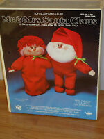 Mr. & Mrs. Santa Claus Soft Sculpture Doll Craft Kit By Valiant Crafts