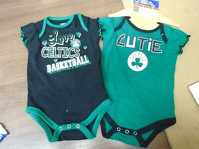Fan Apparel & Souvenirs Punctual Nba Boston Celtics 2pc Creeper Set Infant Girls Size 6/9 Months Fine Craftsmanship