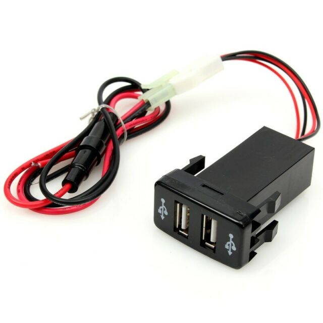 Auto Car 2.1A Dual USB Port Charger Phone PDA DVR + Audio Input for Toyota G4N3