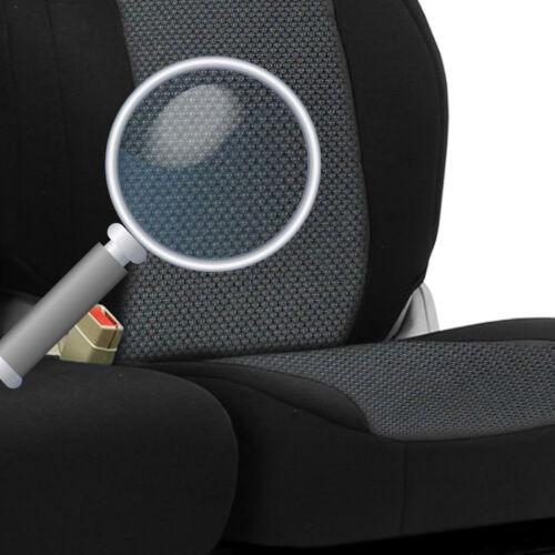 2+1 Grau Schwarz Vordere LUX Stoff Sitzbezüge Neu für Seat Citroen Daihatsu Fiat