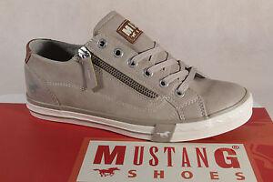 Mustang-Zapatos-de-Cordones-Deportiva-Baja-Beige-Rv-Suela-de-Goma-1146-Nuevo