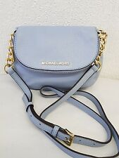 NWOT GENUINE MICHAEL KORS *BEDFORD*LIGHT BLUE SMALL LEATHER HAND BAG��