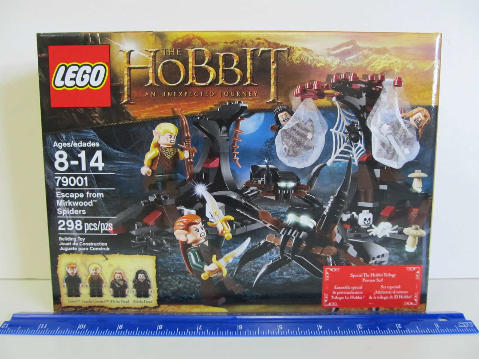 The Hobbit Lego 79001 - Escape from Mirkwood Spiders - 298 pc set - Age 8-14 yrs