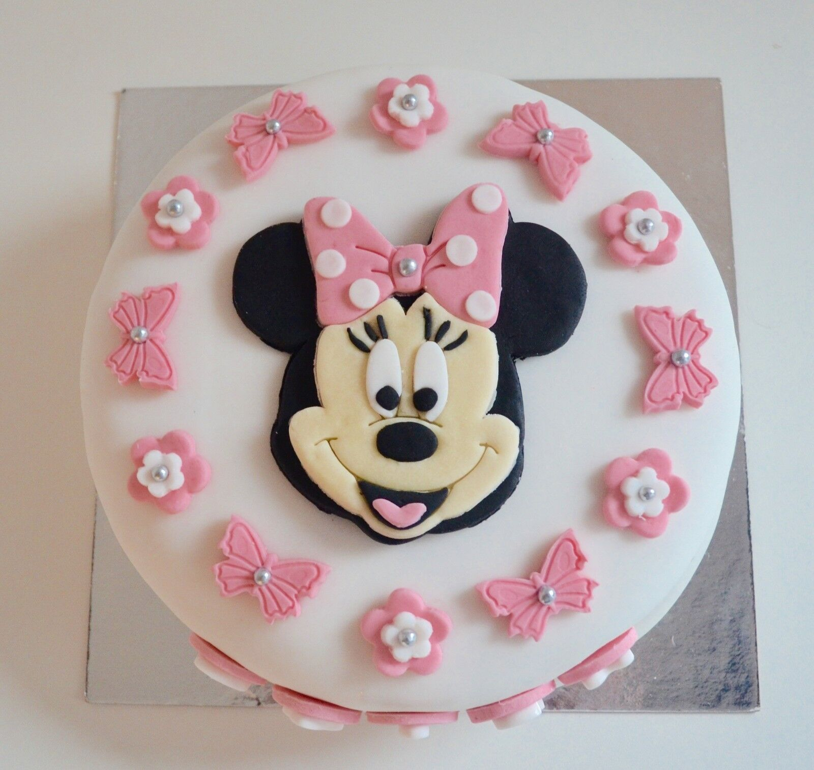 Astonishing Edible Minnie Mouse Cake Topper Birthday Icing Personalised Pink Funny Birthday Cards Online Eattedamsfinfo
