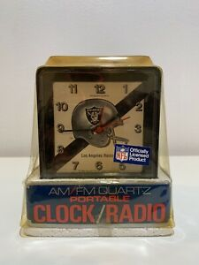 Los-Angeles-Raiders-Portable-Am-Fm-Clock-Radio