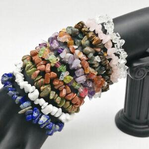 15Colors-Unisex-Women-Men-Gemstone-Crystal-Chip-Beaded-Stretch-Charm-Bracelet-Dw