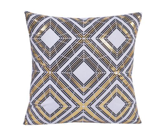 "18x18/"" New Decorative Gold Foil  Printed Accent Pillow zipper Case//Cover"