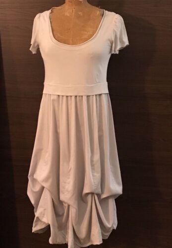 Light Grey Cotton Balloon Dress - Size L