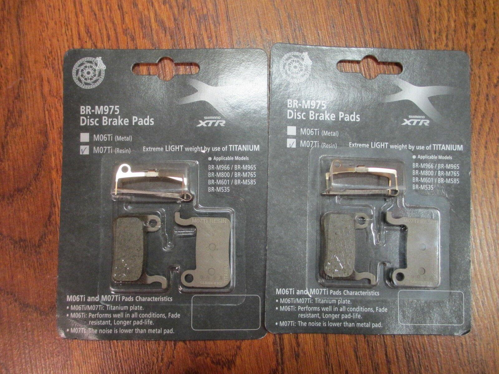 SHIMANO XTR  BR-M975 DISC BRAKE PADS TITANIUM MO7Ti ( RESIN ) SET (2)  quality assurance