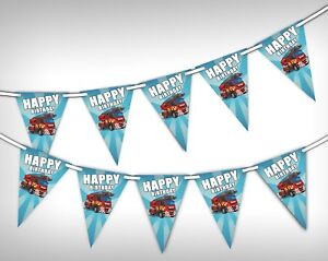 Happy-Birthday-Fire-Truck-Unique-Bunting-Banner-15-flags-by-Party-Decor