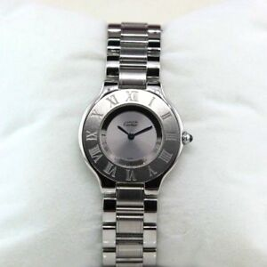67017455488c Image is loading Authentic-Cartier-Must-de-Cartier-21-Stainless-Steel-