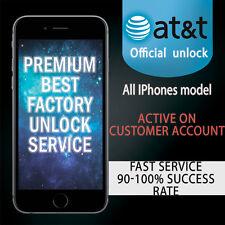 SEMI PREMIUM FACTORY UNLOCK SERVICE AT&T IPHONE 7 SE 6S 6 Plus 5 4 ATT Contract