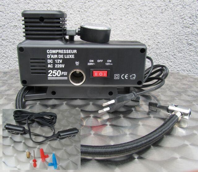 """Kompressor Elektrische Pumpe Ballpumpe 220V & 12V Betrieb """"Hohe Qualität"""" 54323"""