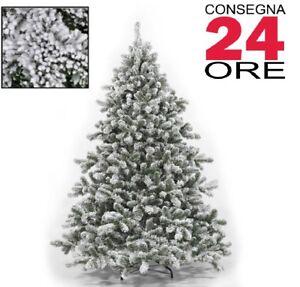 Albero Di Natale Ebay.Albero Di Natale Tirolese Innevato 150 180 210 230 270cm Superfolto Realistico Ebay