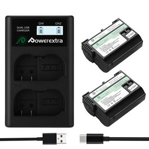 2-x-EN-EL15-Battery-For-Nikon-1-V1-D7200-D7100-D7000-D810-D800-With-LCD-Charger