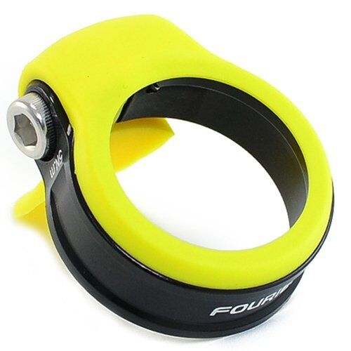 34.9 Yellow x Black FOURIERS Seatpost Clamp With NBR Cover Spec