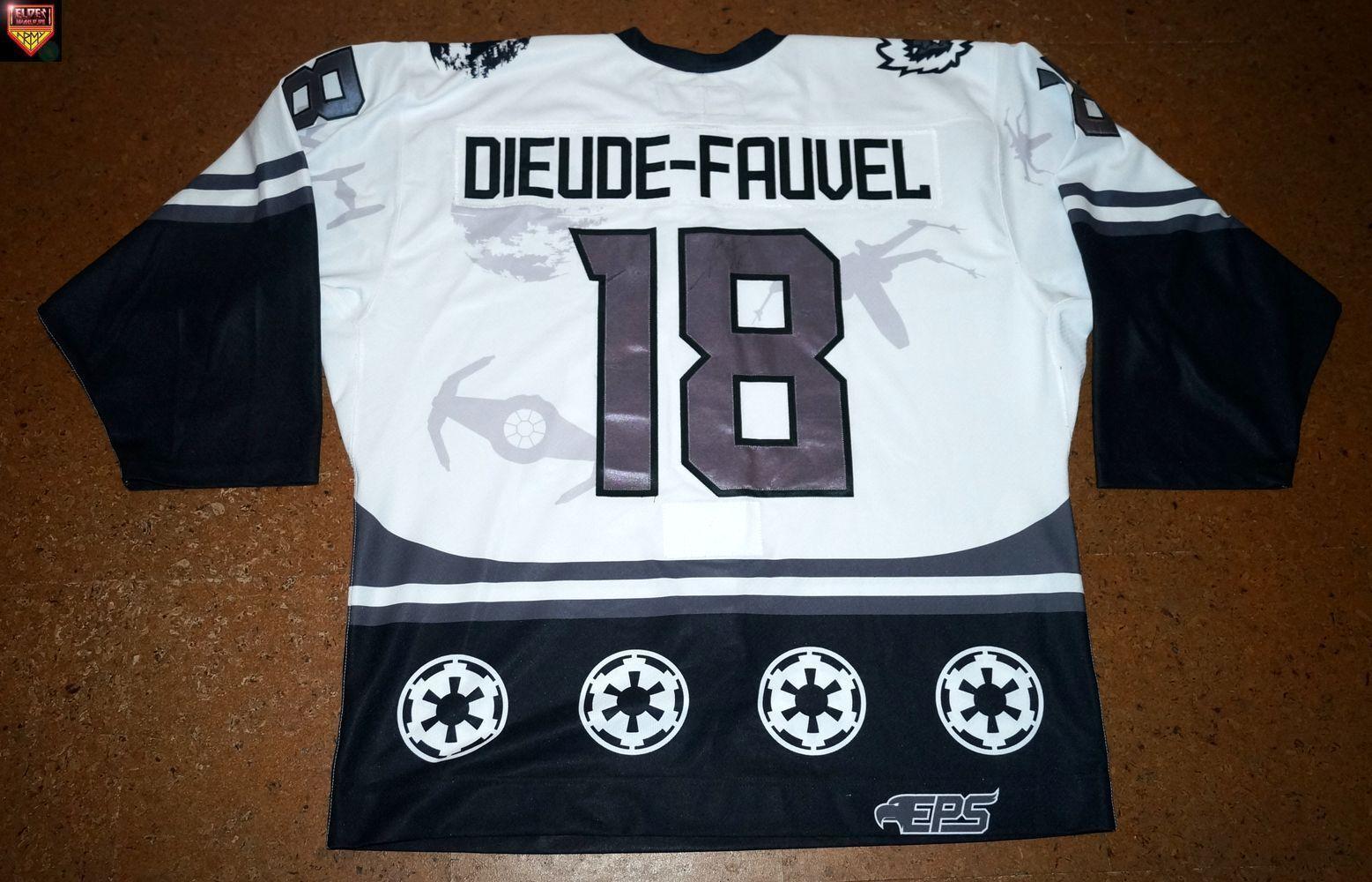 Evansville Icemen  15 16  No.18    Benjamin Dieude-Fauvel  Weiß home Star Wars 23c1e1