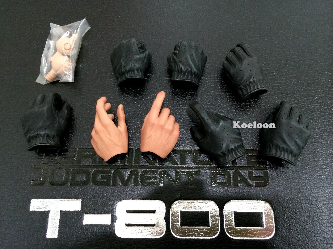Hot Toys 1 6 Scale DX10 Terminator 2 T800 Judgement Day Arnold Hands x8 & Pegs